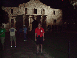 picture of Dwight at The Alamo2007