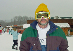 Dwight at the ski slopes 2002